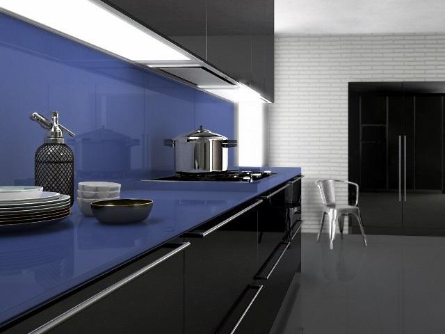 Küchenarbeitsplatte aus Celestial Blue