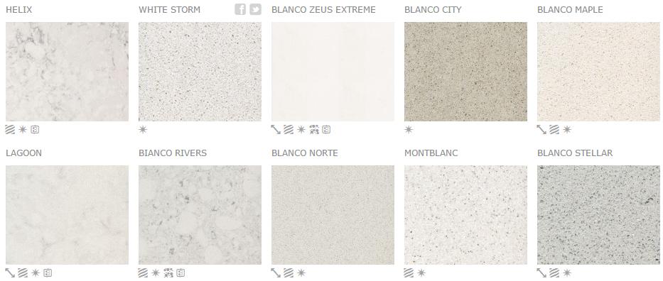 Silestone weiß Blanco Zeus