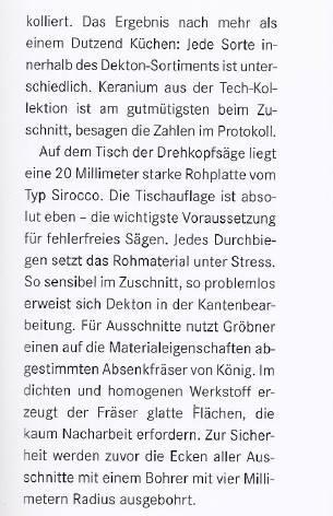 Stein Magazin Dekton 3