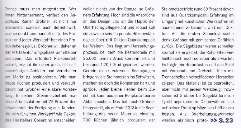 Stein Magazin Dekton 2