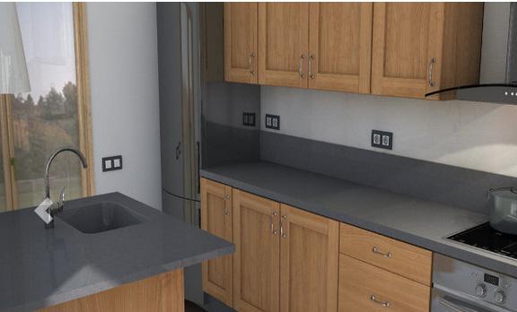 suede Küchenarbeitsplatte