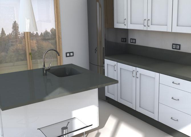 G nstige k chenarbeitsplatten aus cemento spa gr bner - Silestone cemento spa ...