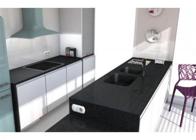 Negro stellar Küchenarbeitsplatten