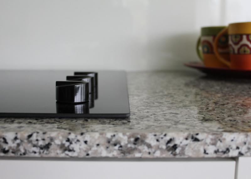 Naturstein Küchenarbeitsplatte Bianco Sardo