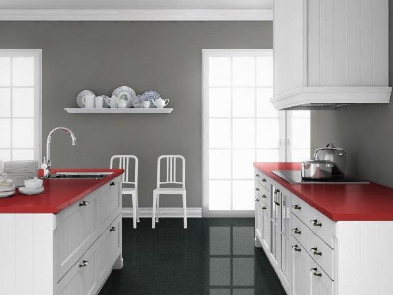 g nstige k chenarbeitsplatten aus rosso monza gr bner. Black Bedroom Furniture Sets. Home Design Ideas
