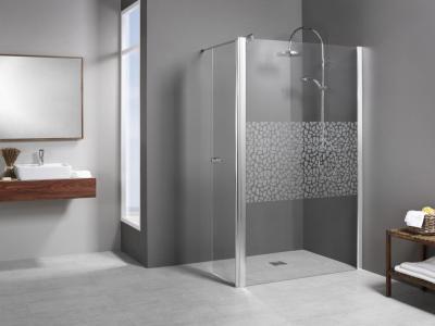 Entra Duschwand mit bewegl. Element über Eck 1200