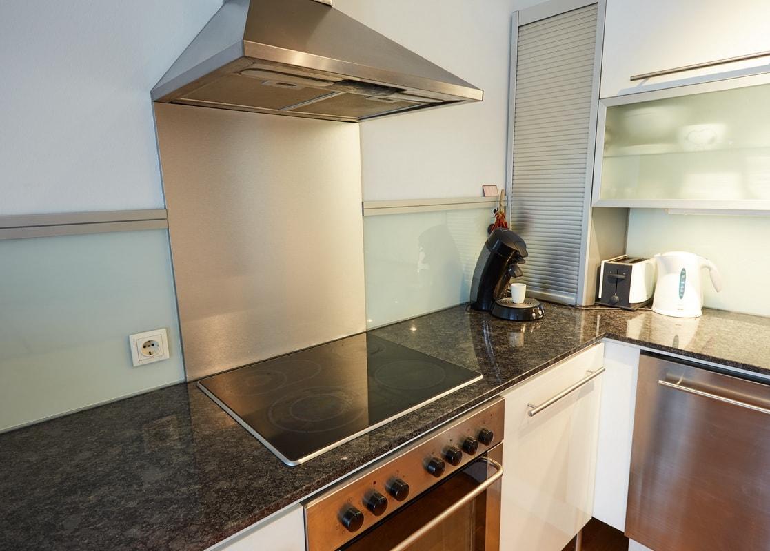 Steel grey Küchenarbeitsplatte