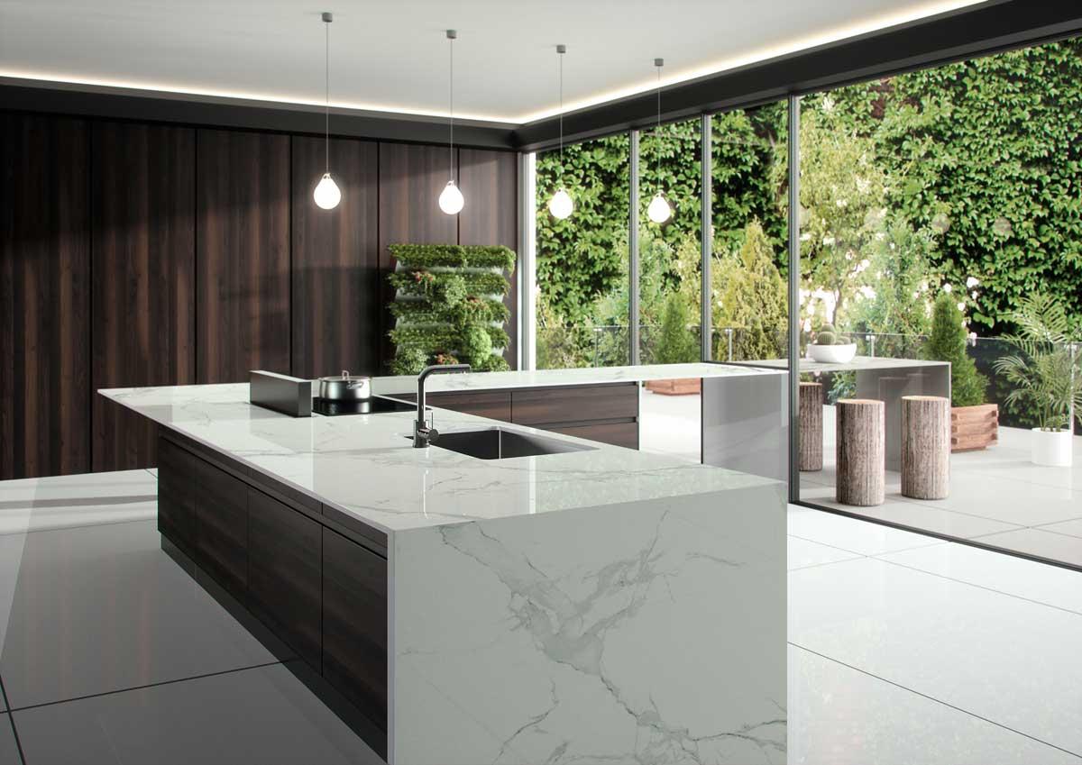 Berühmt günstige Küchenarbeitsplatten aus Granit, Silestone, Dekton :: Gröbner XS04